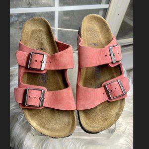 Birkenstock Soft Footbed Leather Slide Sandals 5